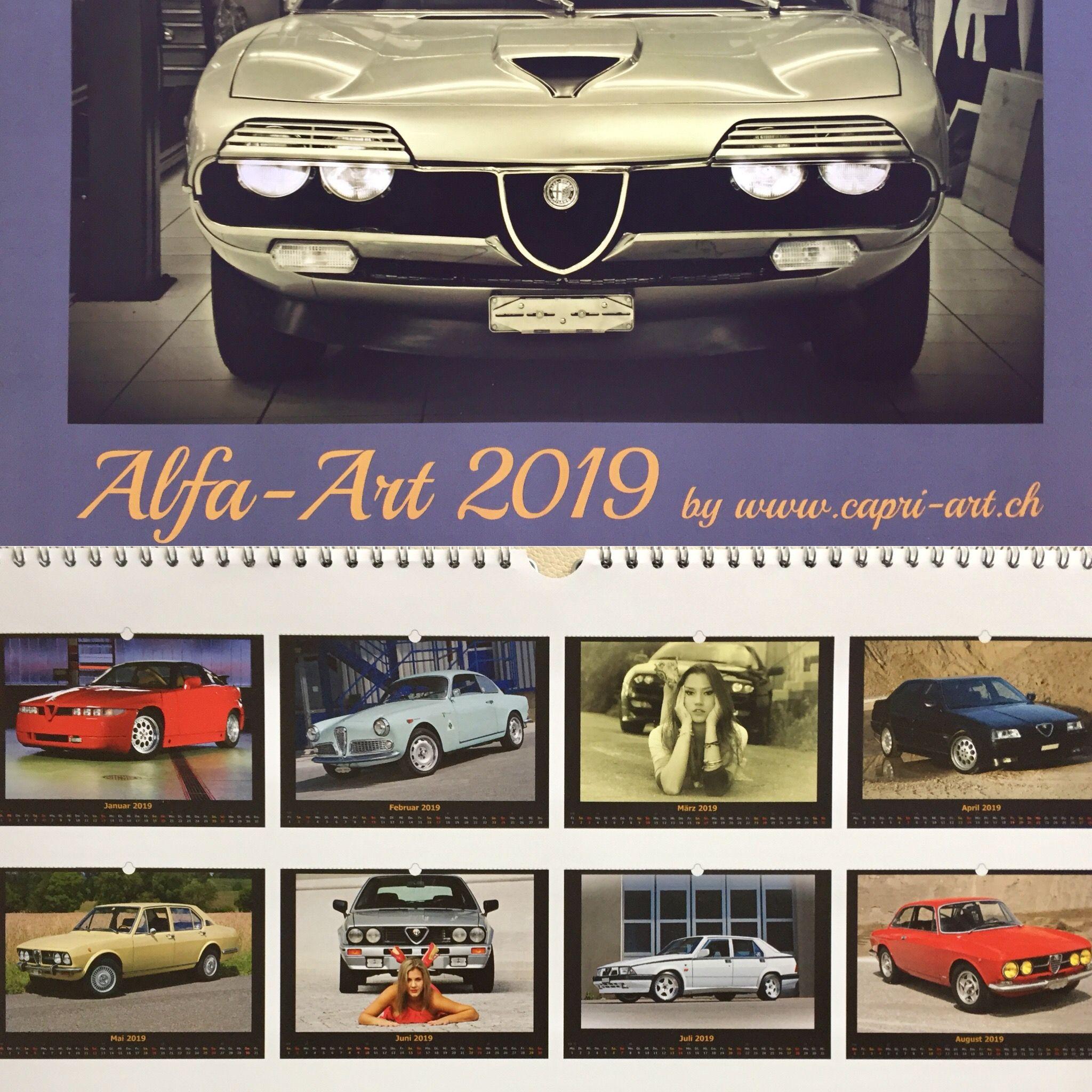 Pin Von Rolizingg Auf Alfa Romeo Kalender 2019