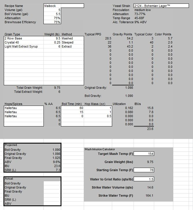 Great free spreadsheet-based homebrew recipe calculator Beer