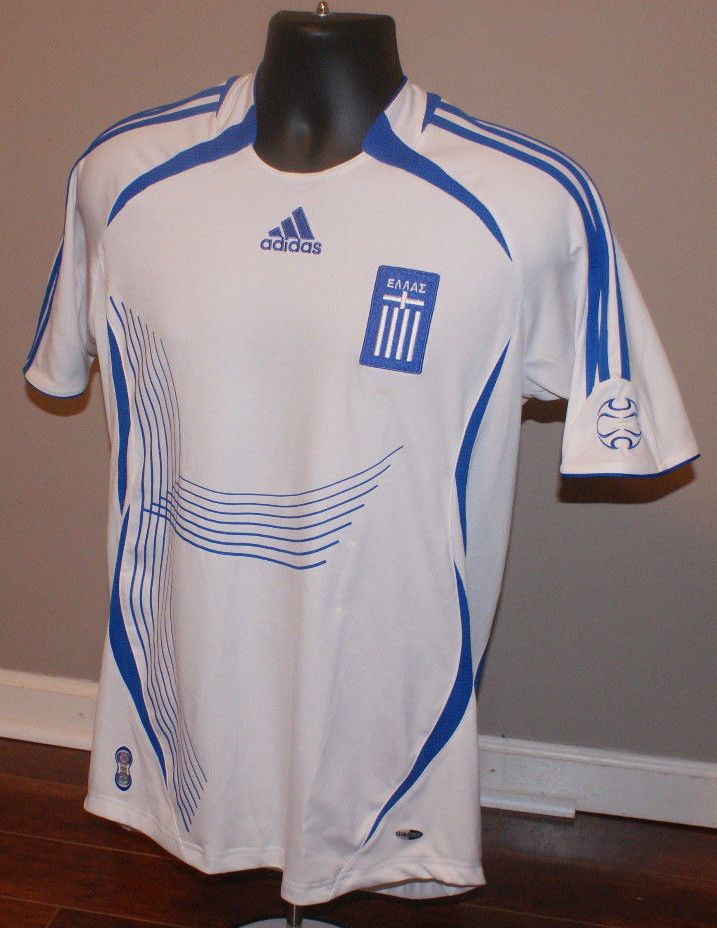 innovative design f8d70 51e91 ADIDAS GREECE NATIONAL TEAM SOCCER JERSEY SIZE MENS Small ...