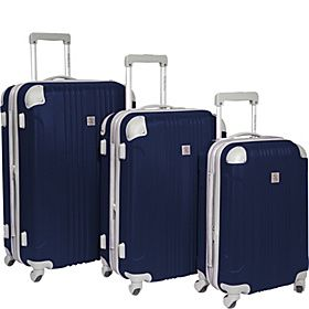 Beverly Hills Country Club Malibu 3 Piece Hardside Spinner Luggage Set - Navy - via eBags.com!