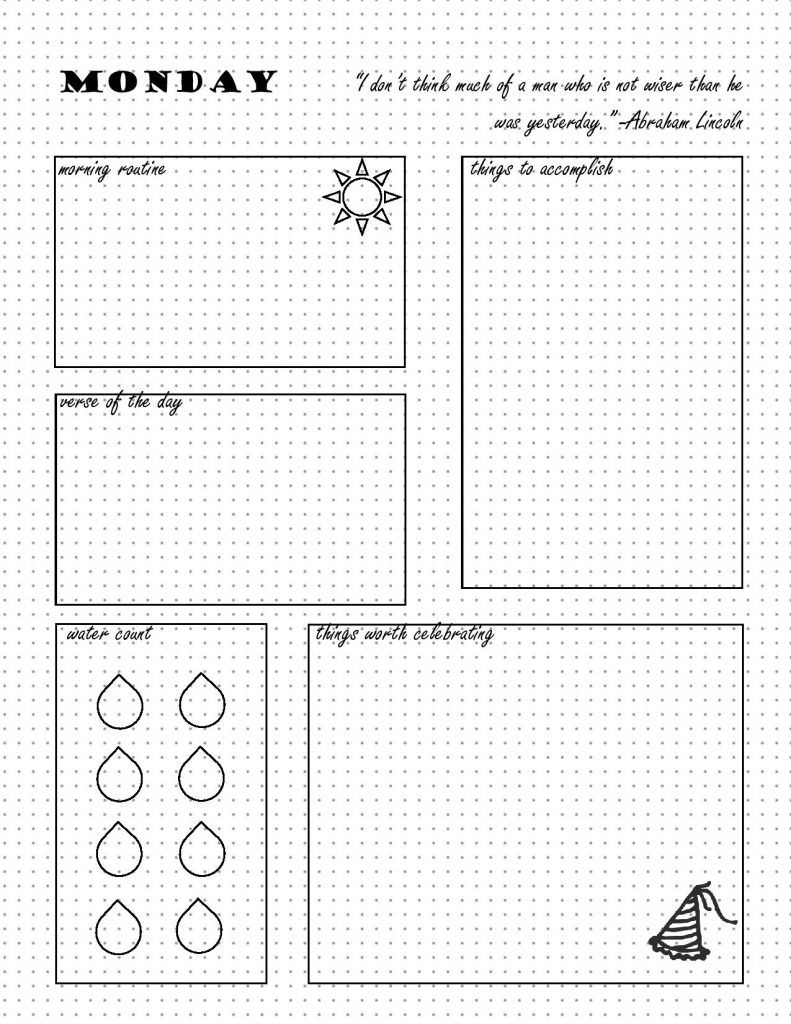 photo about Bullet Journal Printable Pages identified as Totally free Bullet Magazine Printables Planners/Magazines/Binders