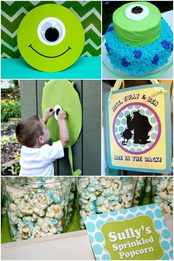 So many awesome MONSTERS INC birthday party ideas! Hmmmm...maybe ...