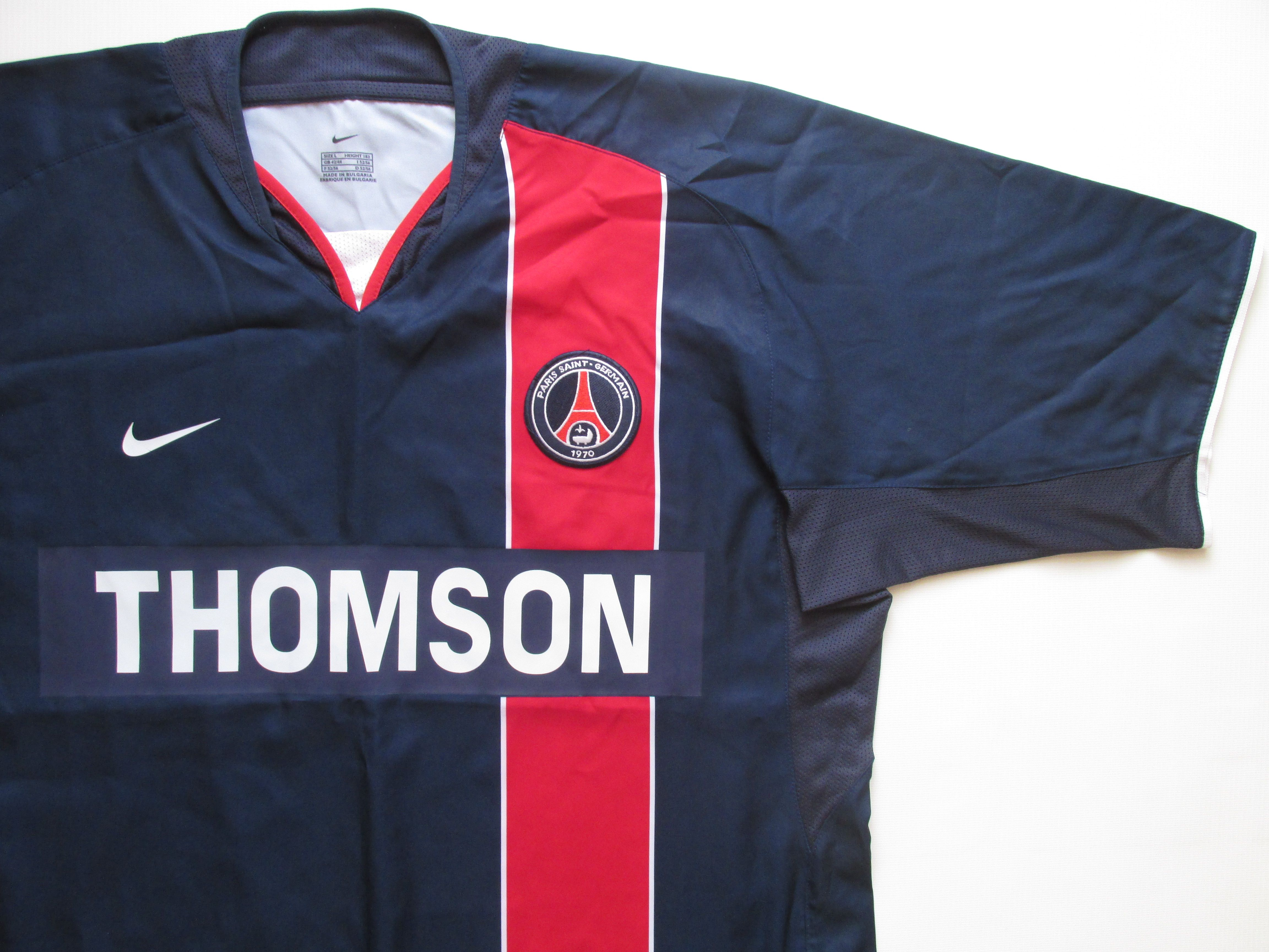 bcbf1765d57 Paris Saint-Germain 2003/2004 home football shirt by Nike France vintage  maillot soccer jersey PSG #Paris #PSG #ParisSaintGermain #France #vintage  ...