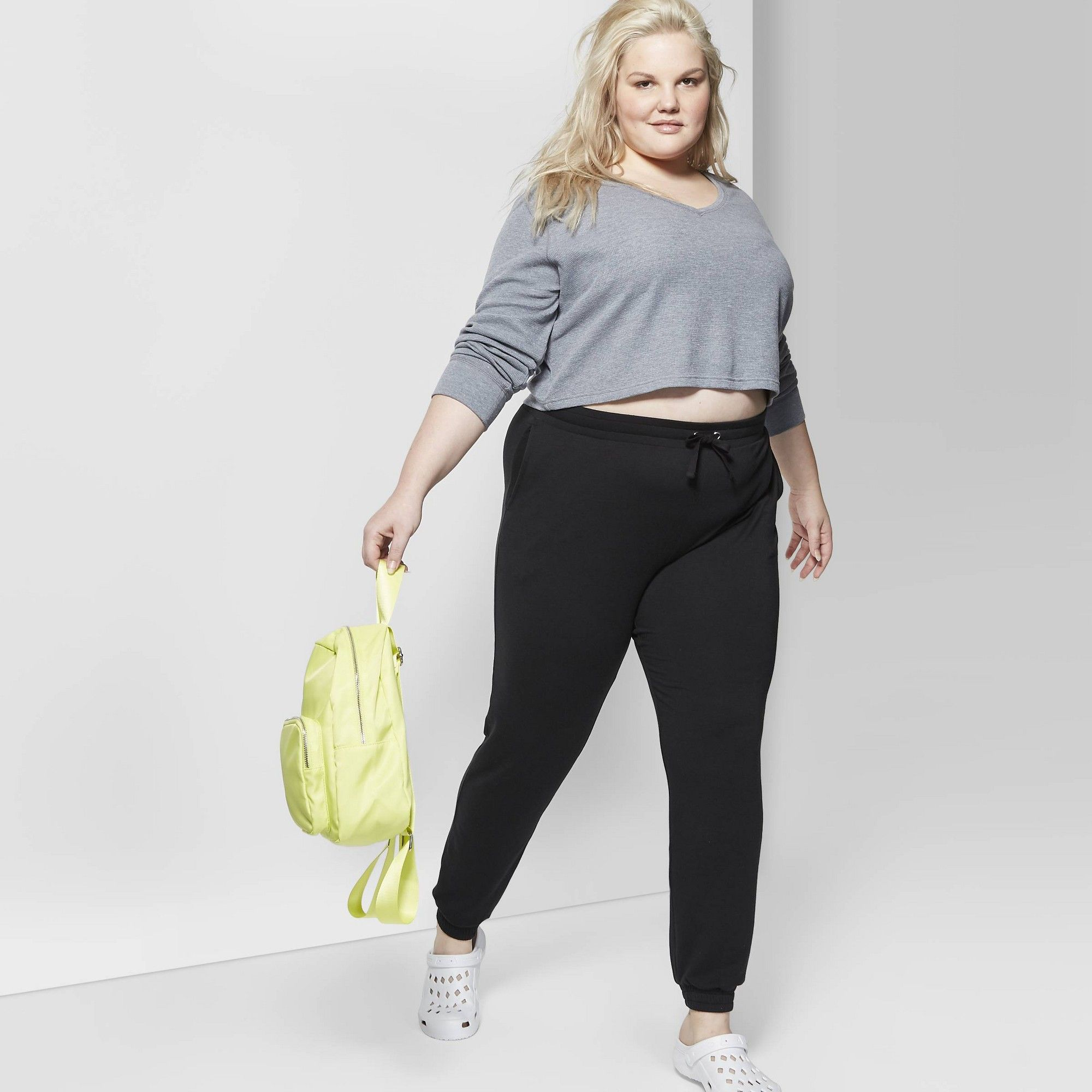 Women/'s plus Size 3X Jogger ankle Pants Universal Thread Sweat Pant Black