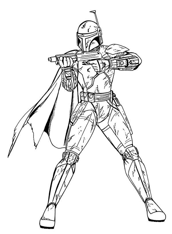 Boba Fett In Star Wars Coloring Page Download Print Online Coloring Pages For Free Color Nimb Star Wars Coloring Book Star Wars Drawings Star Wars Colors
