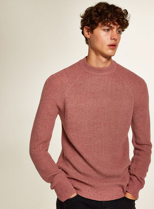 d7fd27c97198  mensfashion  style  menswear  ootd  fashion. Pink Ribbed High Neck Jumper  - Men s Jumpers  amp  Cardigans - Clothing - TOPMAN High