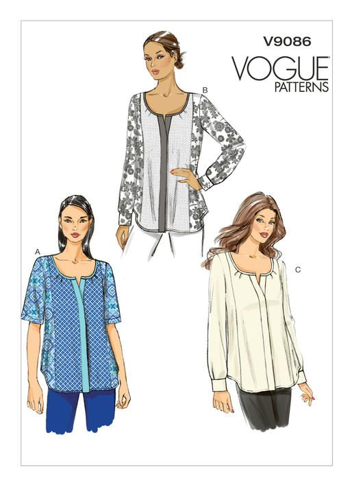 V9086   Vogue Patterns   S E W I N G   Pinterest   Nähen