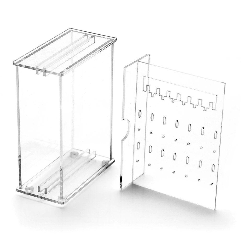 Weiai Acrylic Mini Jewelry Storage Box Earring Display Stand