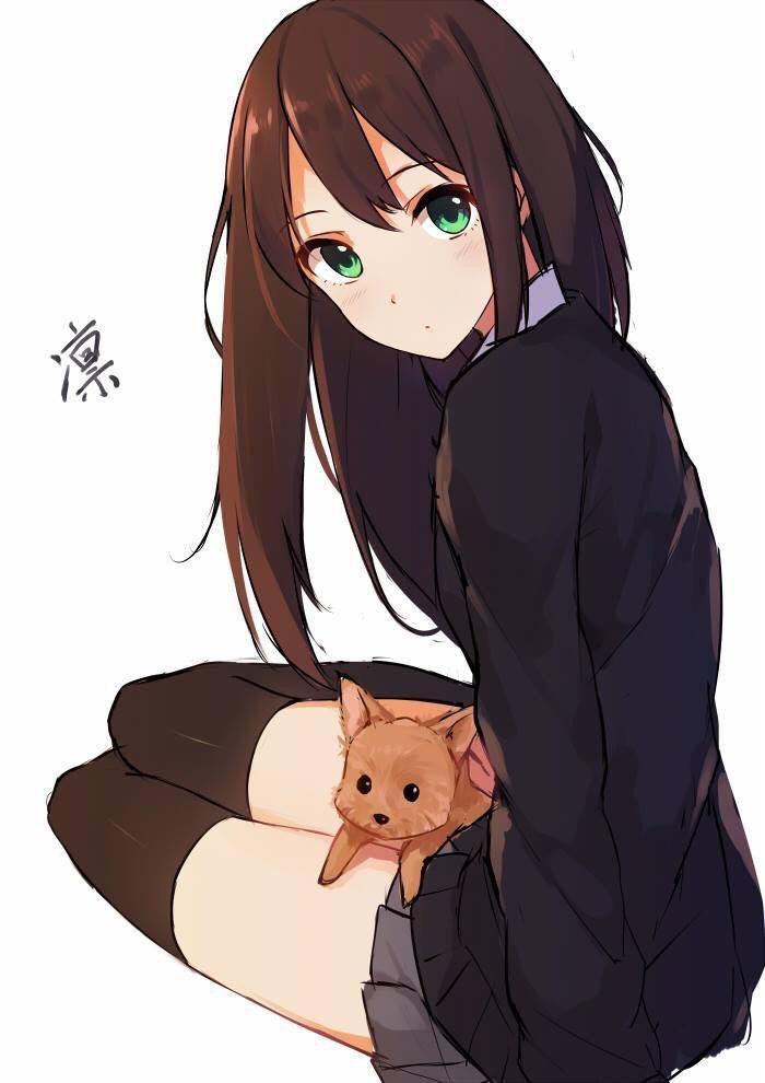 Avec son chien ipso manga pinterest manga dessin - Personnage manga fille ...