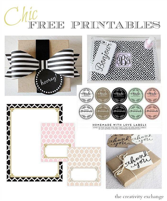 Fabulous Chic Free Printables | Diy ideen, Schilder und Tags