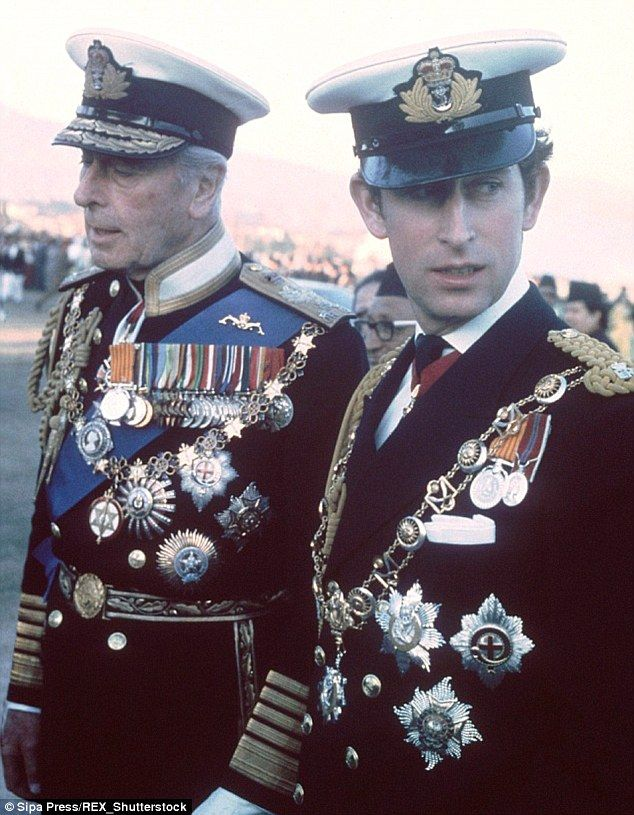 Prince Charles with his great-uncle and godfather, Earl Mountbatten, who was murdered by the IRA in 1979