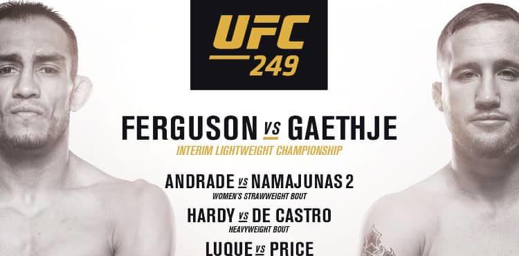 how to watch UFC 249 in 2020 Ufc, Ufc fight night, Ufc