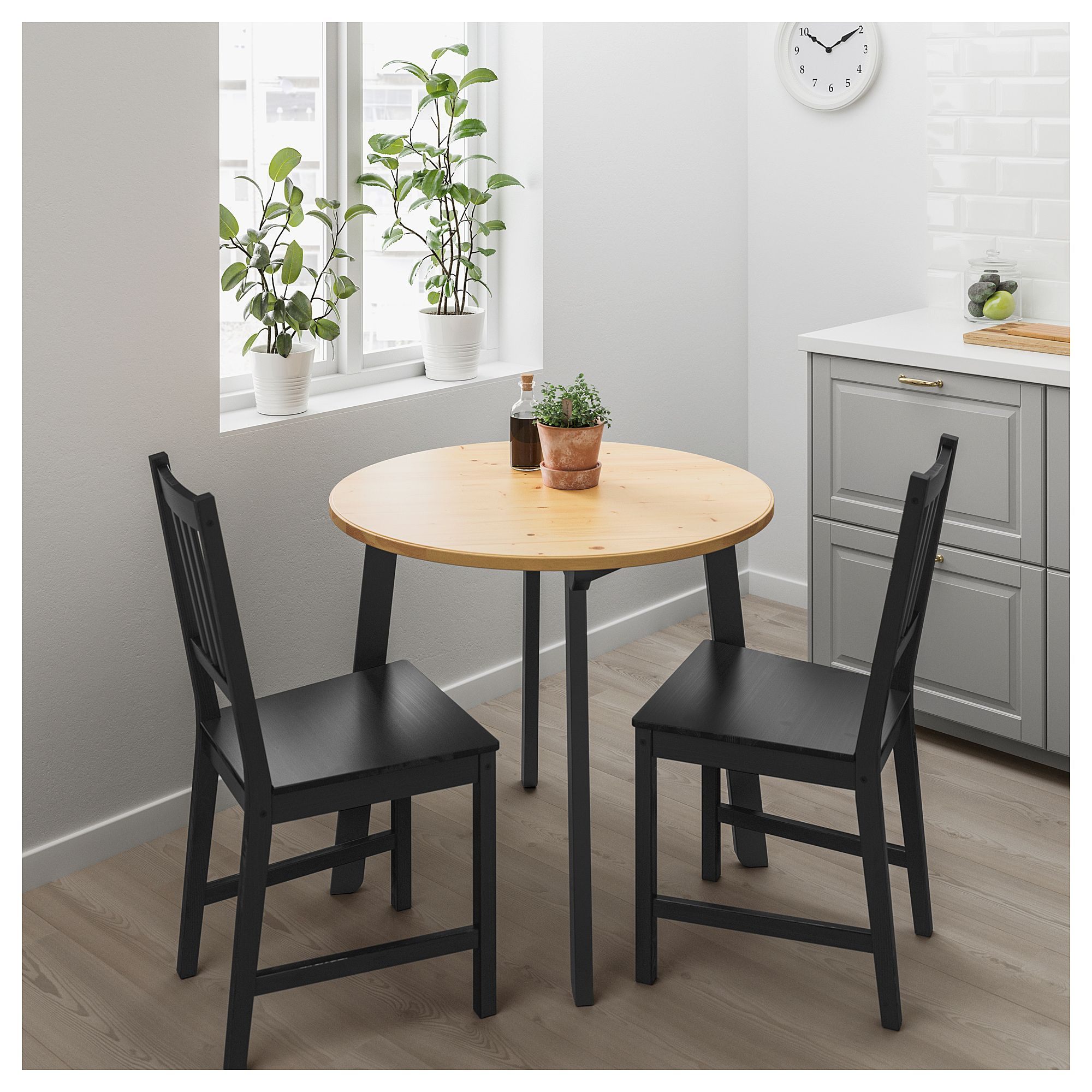 Gamlared Light Antique Stain Black Stained Table Ikea Small Kitchen Tables Small Dining Table Ikea