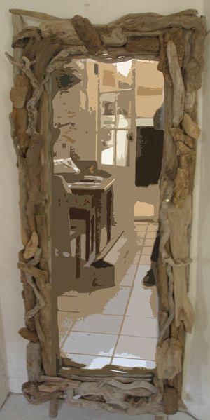 Miroir bois flotte for the home pinterest driftwood for Decoration bois flotte aquarium