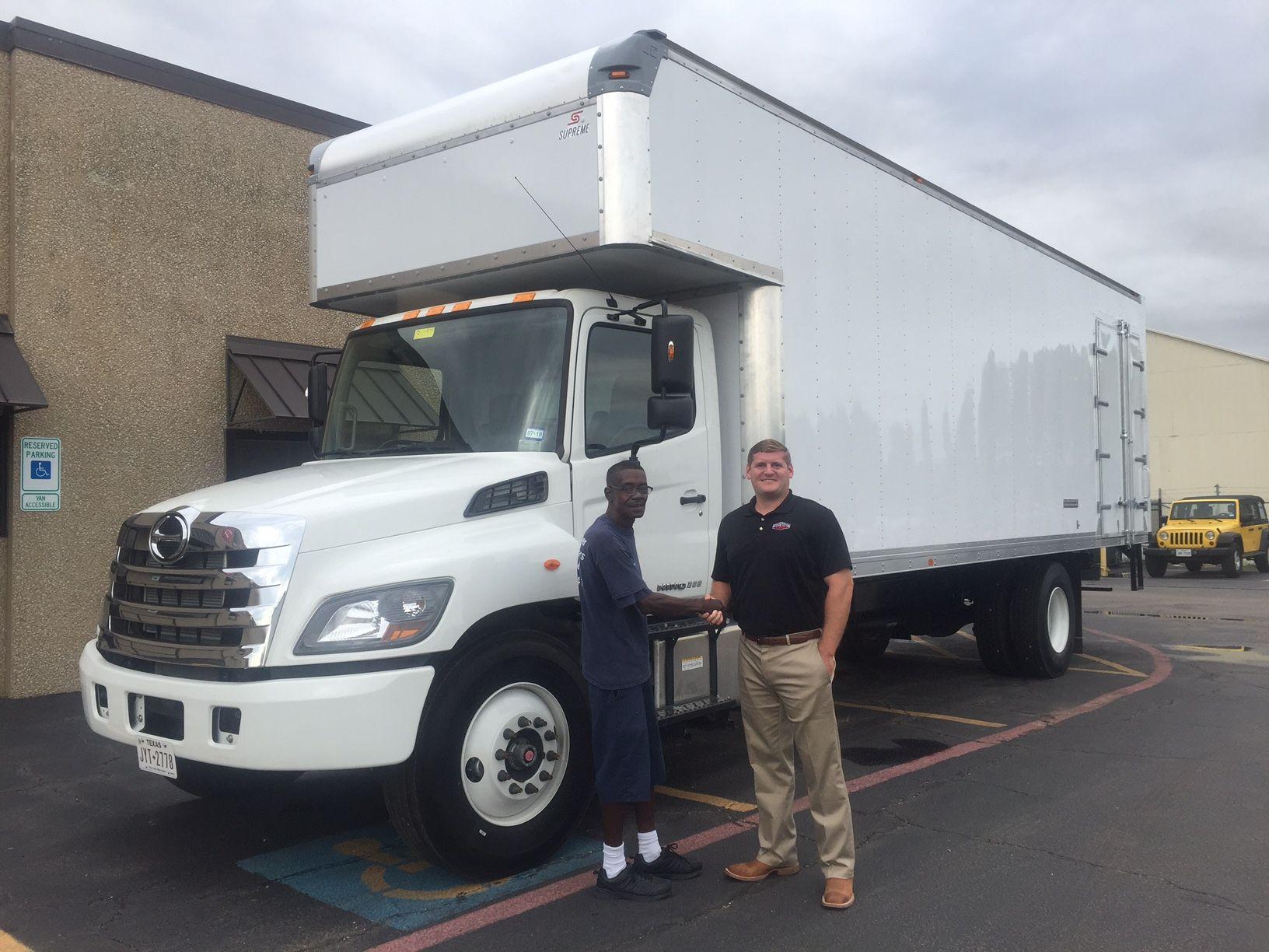 medium resolution of hino 268 26ft box truck with custom top attic and side door hino trucks box moving