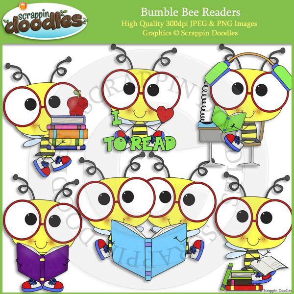 Bumble Bee Readers - Reading Clip Art | Clip art, Crafts ...