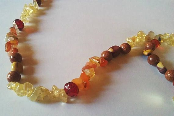 Citrine and carnelian with citrine crystal pendant necklace aloadofball Image collections