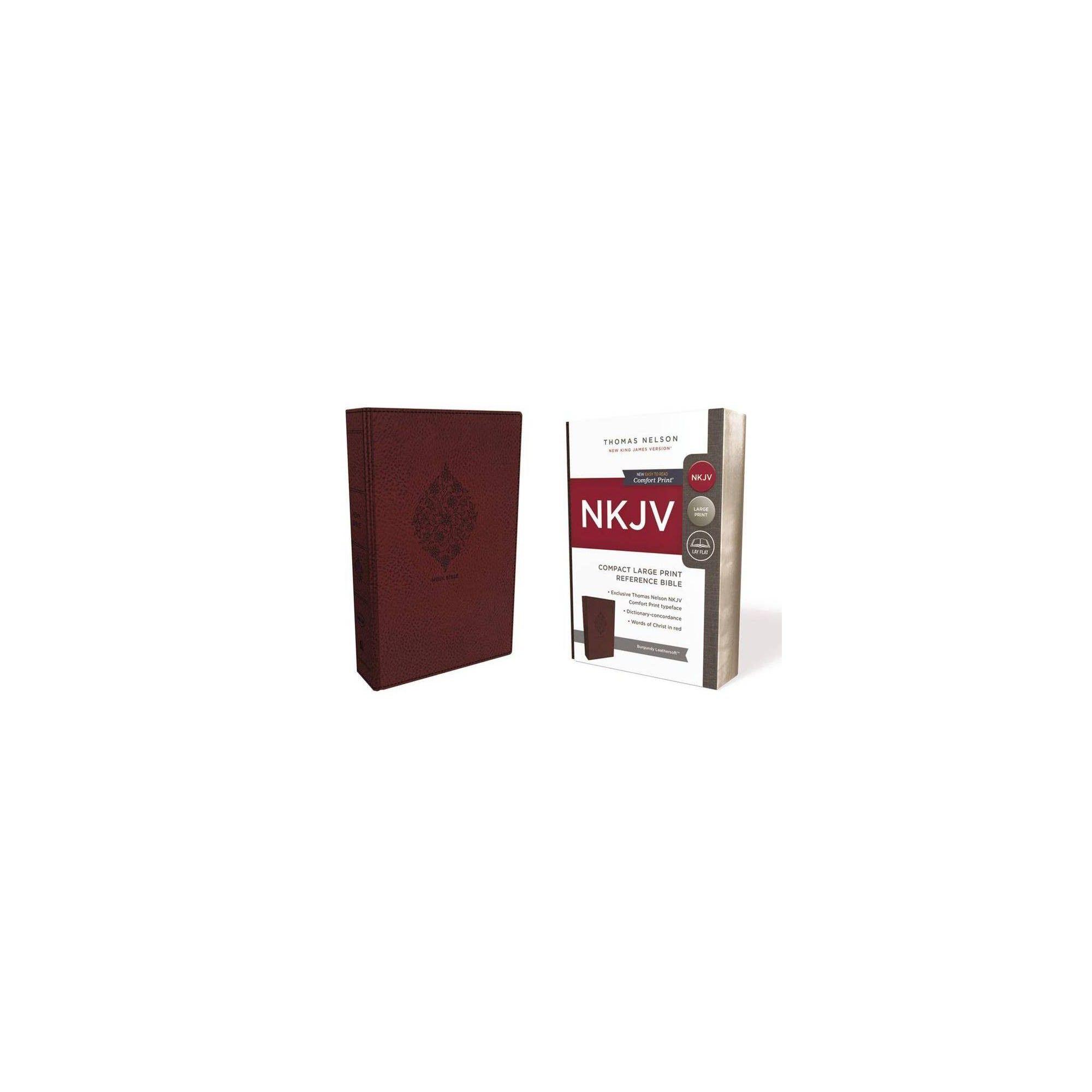 Nkjv Reference Bible Compact Large Print Imitation Leather