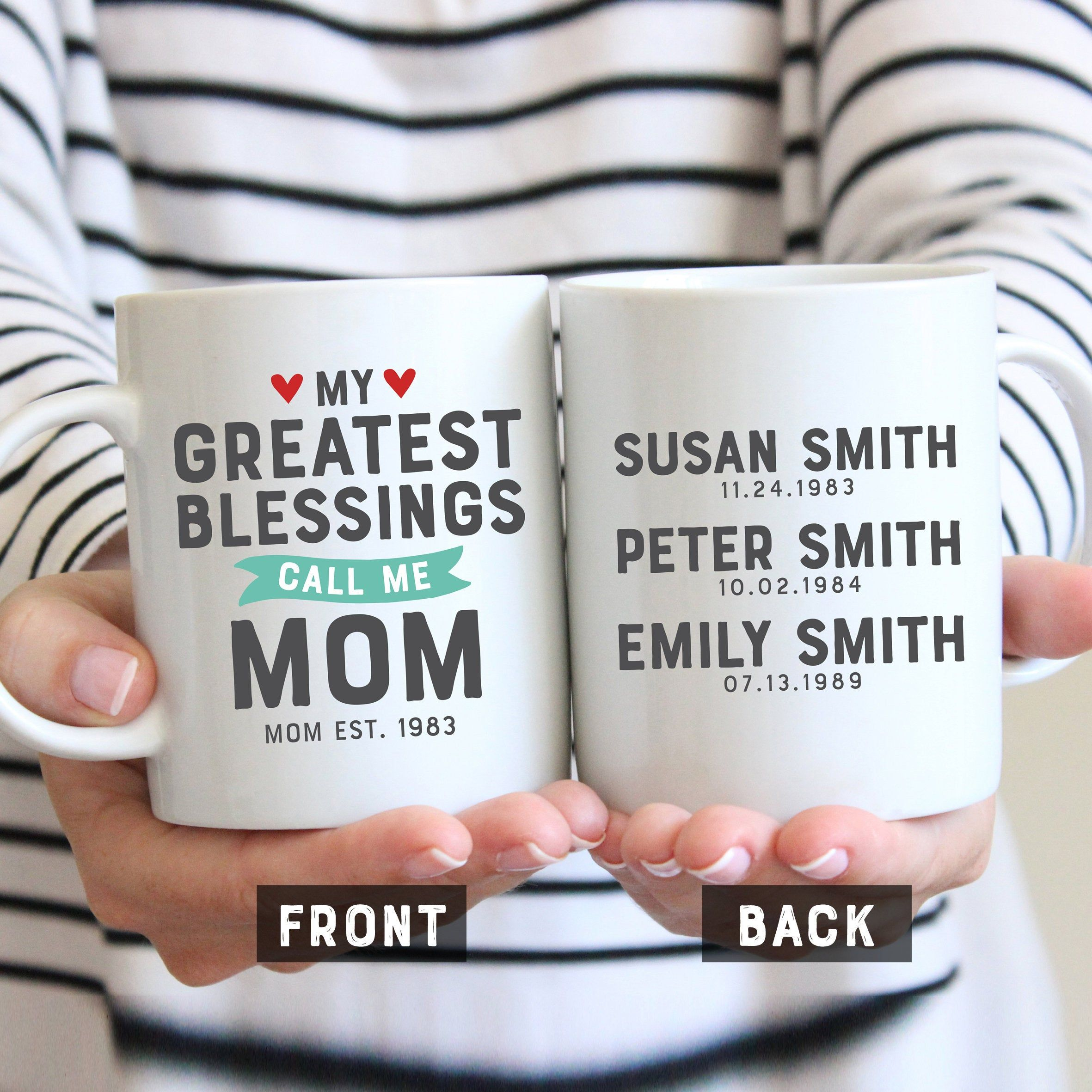 My Greatest Blessings Call Me Mom, Christmas Gift For Mom, Mom Gift, Mothers Day Gift, Gift For Mom Mug, Mothers Day Mug, Mom Gift From Kids #grandpagifts