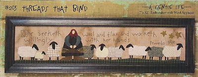 "A Gentle Life Threads That Bind Penny RUG Wool Applique Pattern 7"" X 32"" | eBay"