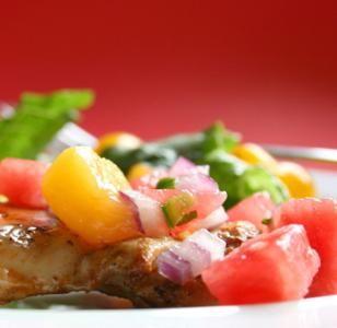 BodyLab :: Marinated Grilled Chicken With Watermelon Salsa Recipe