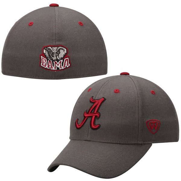 lowest price b2a4e 13601 Alabama Crimson Tide Top of the World Dynasty Memory Fit Fitted Hat –  Charcoal -  27.99