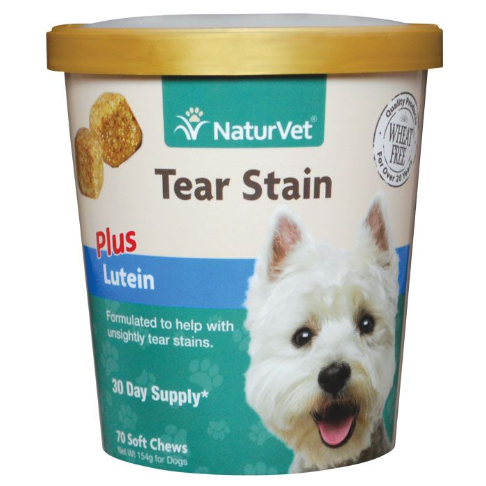 NaturVet Tear Stain+ Lutein Soft Chew 70 ct Tear stains