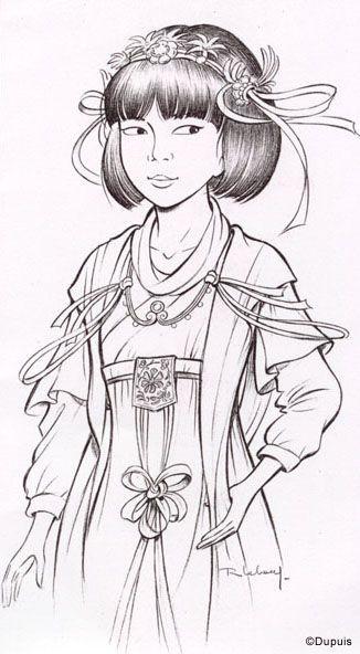 Yoko tsuno by roger leloup yoko tsuno en 2019 pinterest - Modele dessin personnage ...