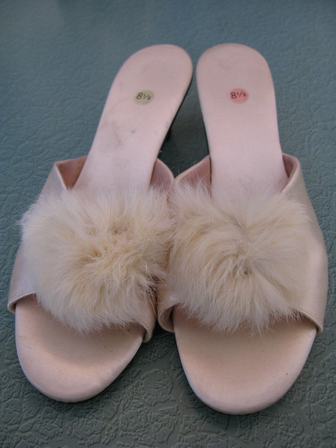 1950s Satin Boudoir Slippers. $45.00, via Etsy.