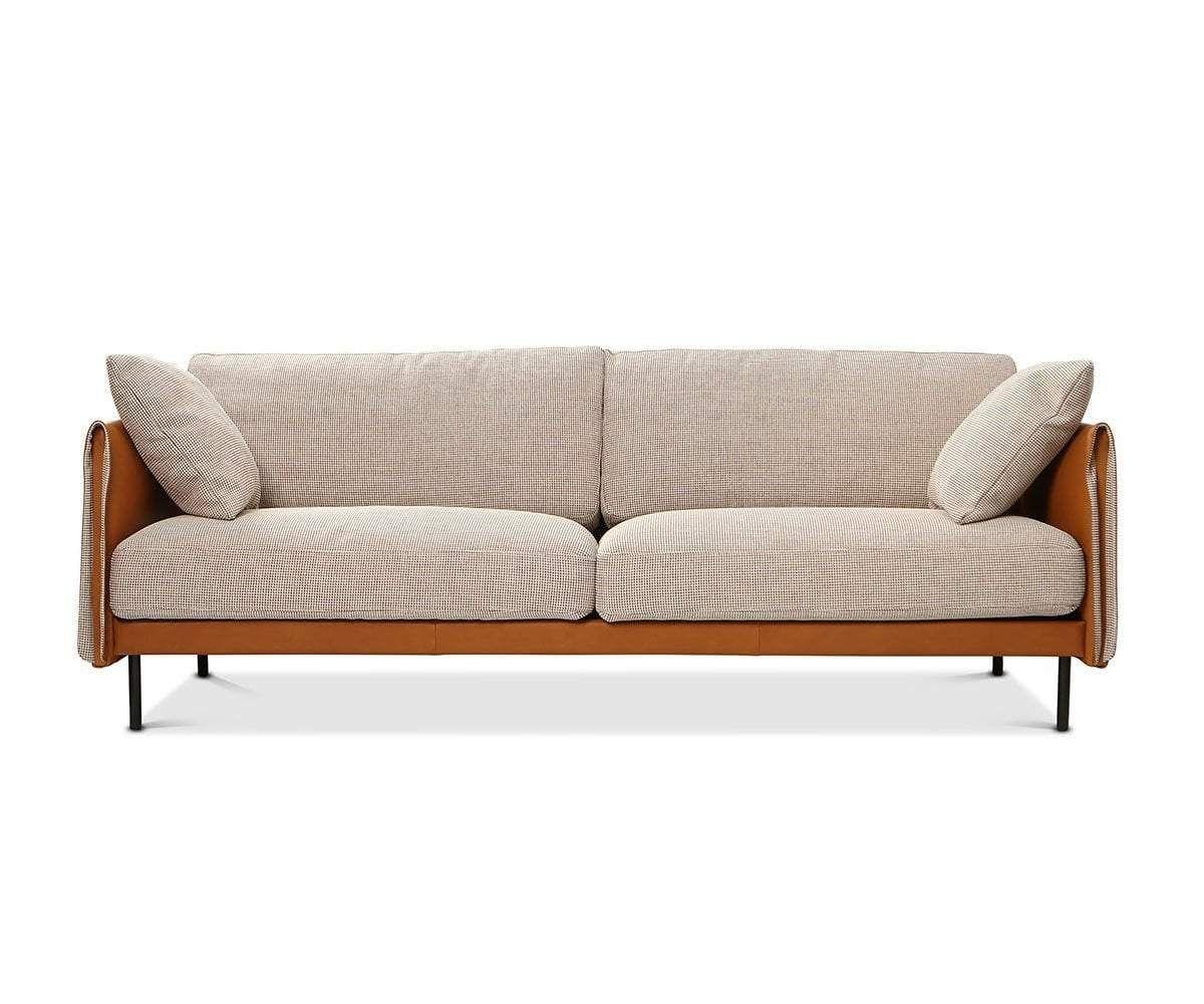 1stdibs Sofa Comfortable Sleek Calfskin Three Seat Couch Dutch