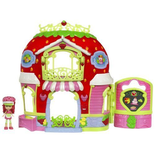 Strawberry Shortcake Berry Bitty Market Playset by Hasbro. $34.99. Amazon.com                 The Strawberry Shortcake Berry Bitty Market provides an imaginative, creative play set for the Strawberry Shortcake doll and her friends to shop, bake, and eat in. Including more than 30 accessories, this two-storied  marketplace has plenty of room to set up food items and shop. Recommended for children four and up, the market includes a cash register which dings when opene...