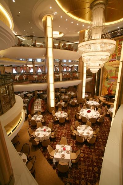 Allure Of The Seas  The Threelevel Main Dining Room Onboard Fair Allure Of The Seas Main Dining Room Menu Design Decoration