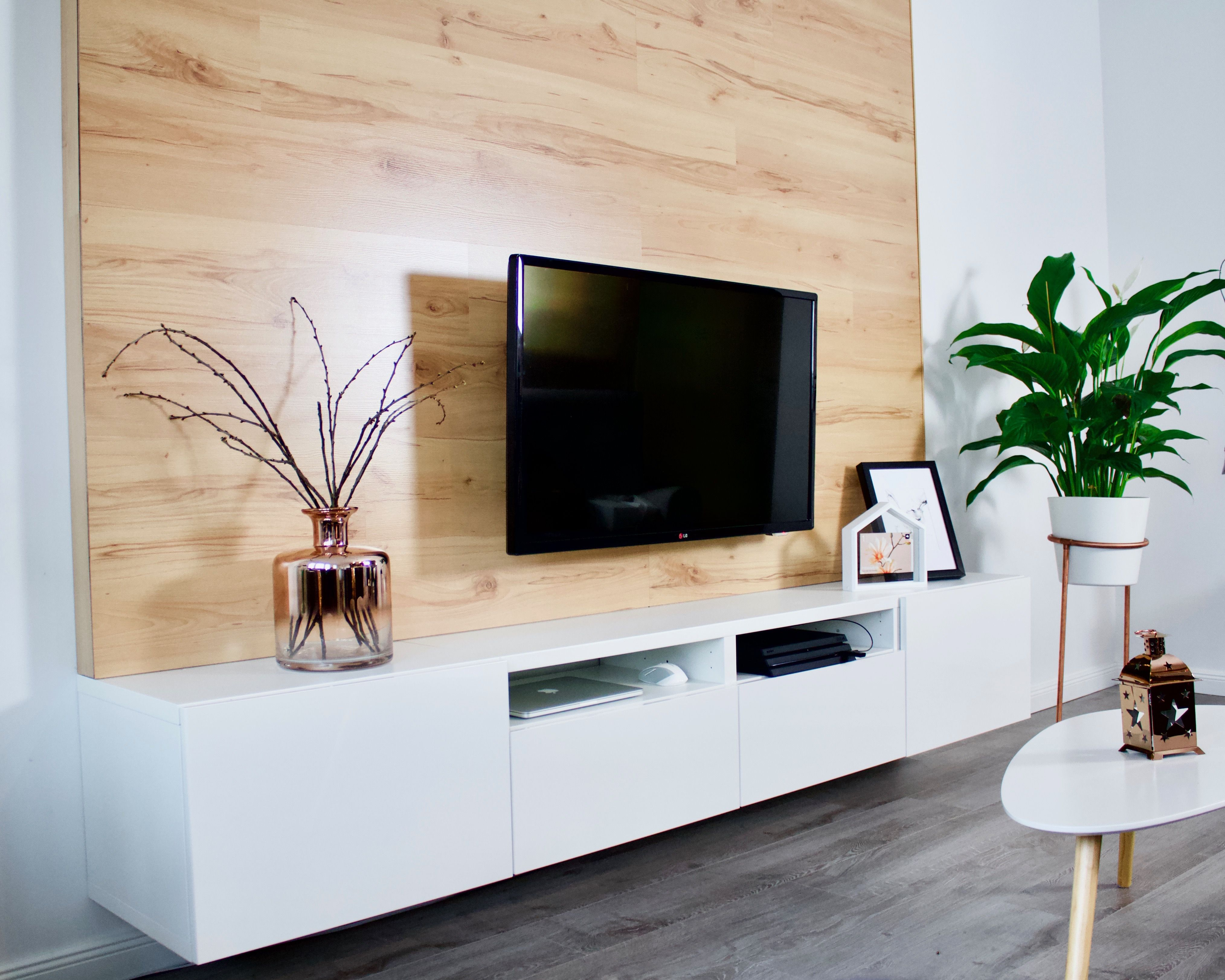 Diy Tv Wand Aus Holz Bauen Mit Bildern Tv Wand Holz Diy