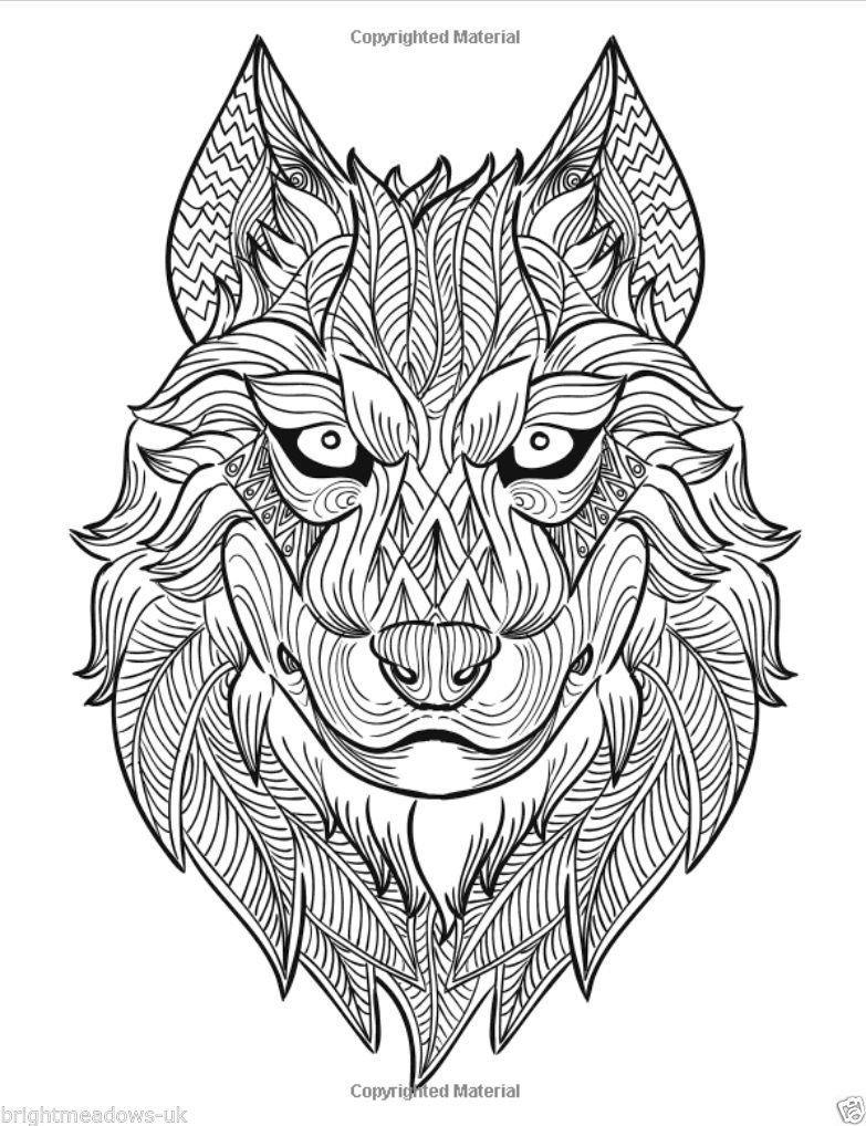 Details About Awesome Animals 2 Adult Colouring Book