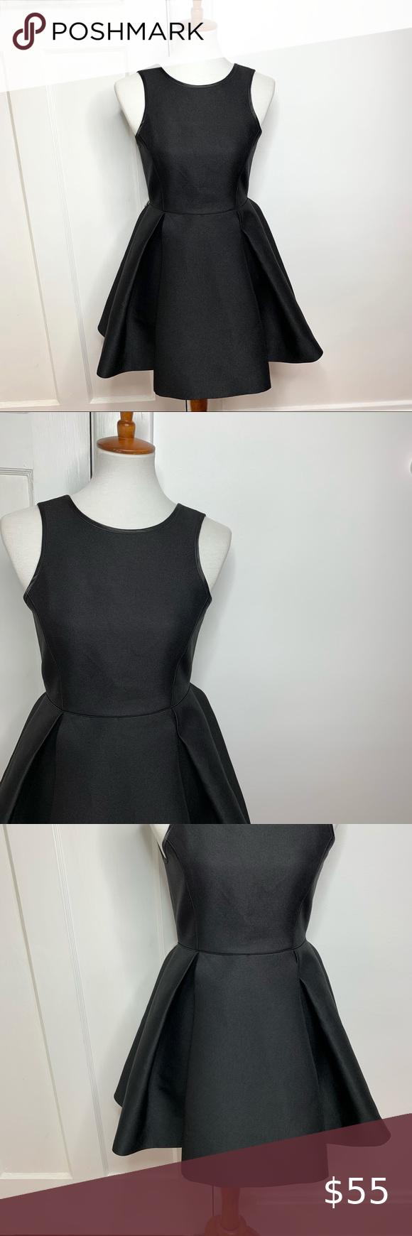 Asm Structured Fit Flare Little Black Dress Little Black Dress Black Dress Dresses [ 1740 x 580 Pixel ]