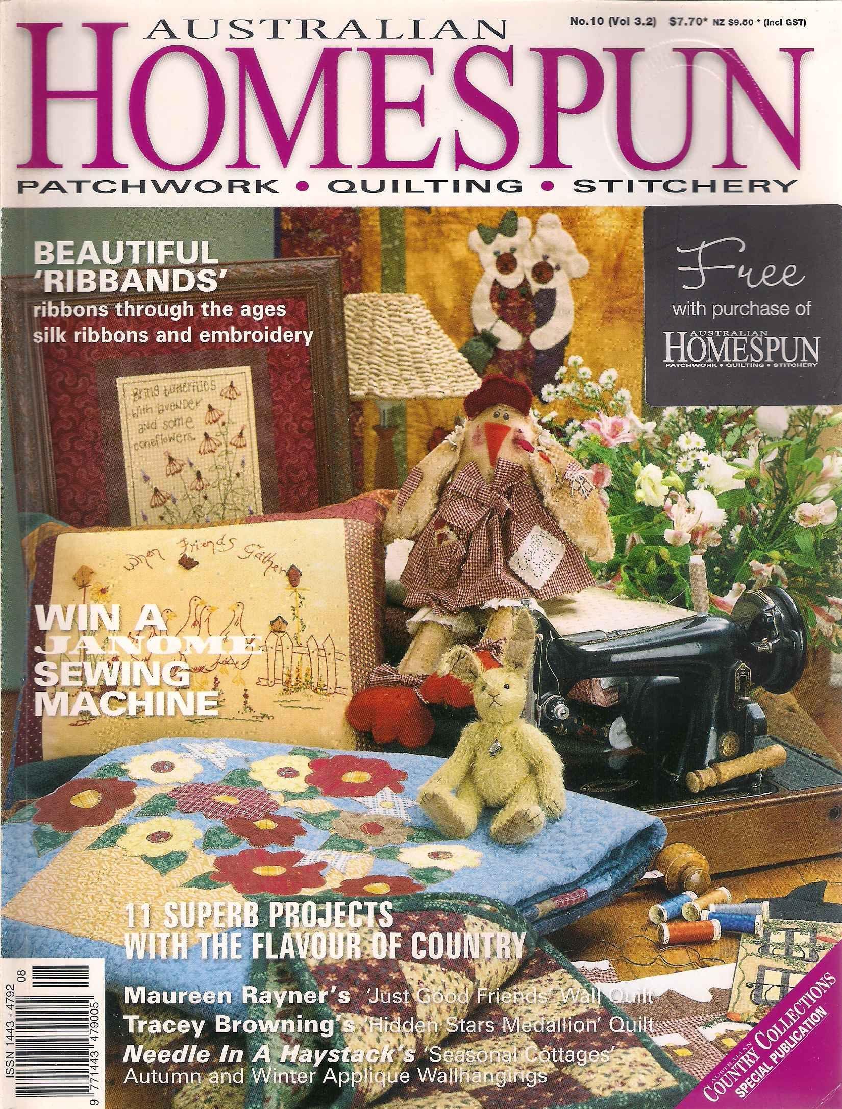 Australian Homespun volume 3 number 2 issue 10 2002, sewing ... : australian quilt magazines - Adamdwight.com