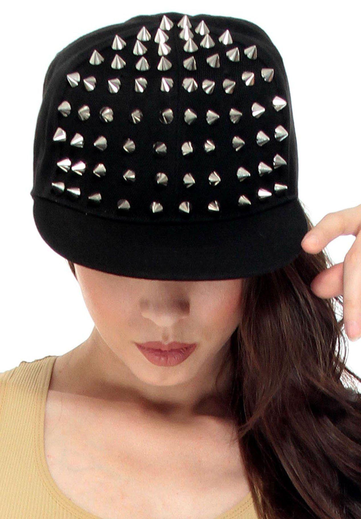 36d4d7a88623c Simplicity Men   Women s Punk Rock Spiked Studded Baseball Hat ...
