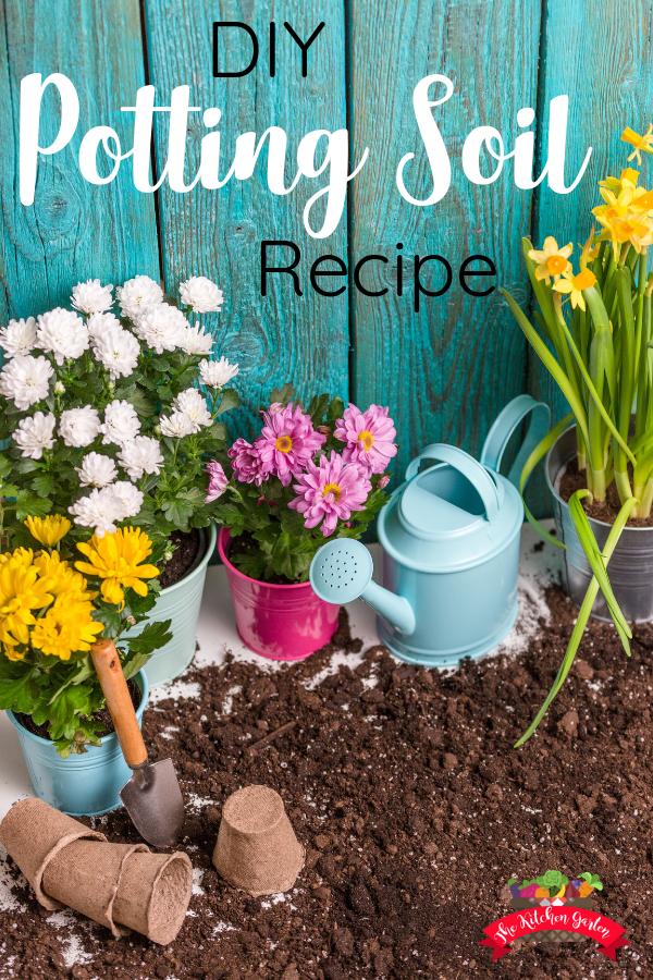 DIY Potting Soil Recipe Potting soil, Container