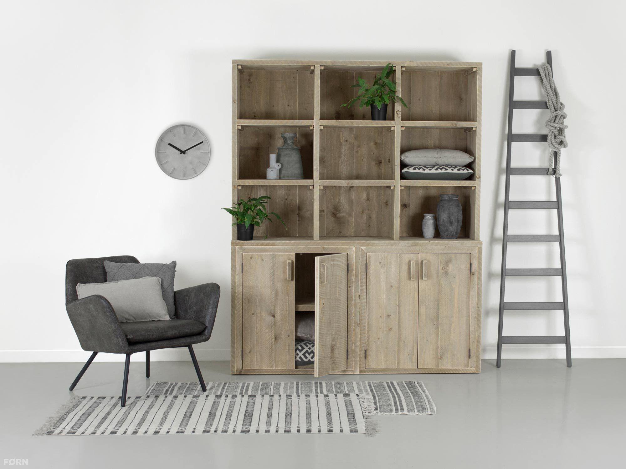Wohnideen Büro Im Wohnzimmer bauholz buffetschrank felix bauholzmoebeldesign de bauholz design