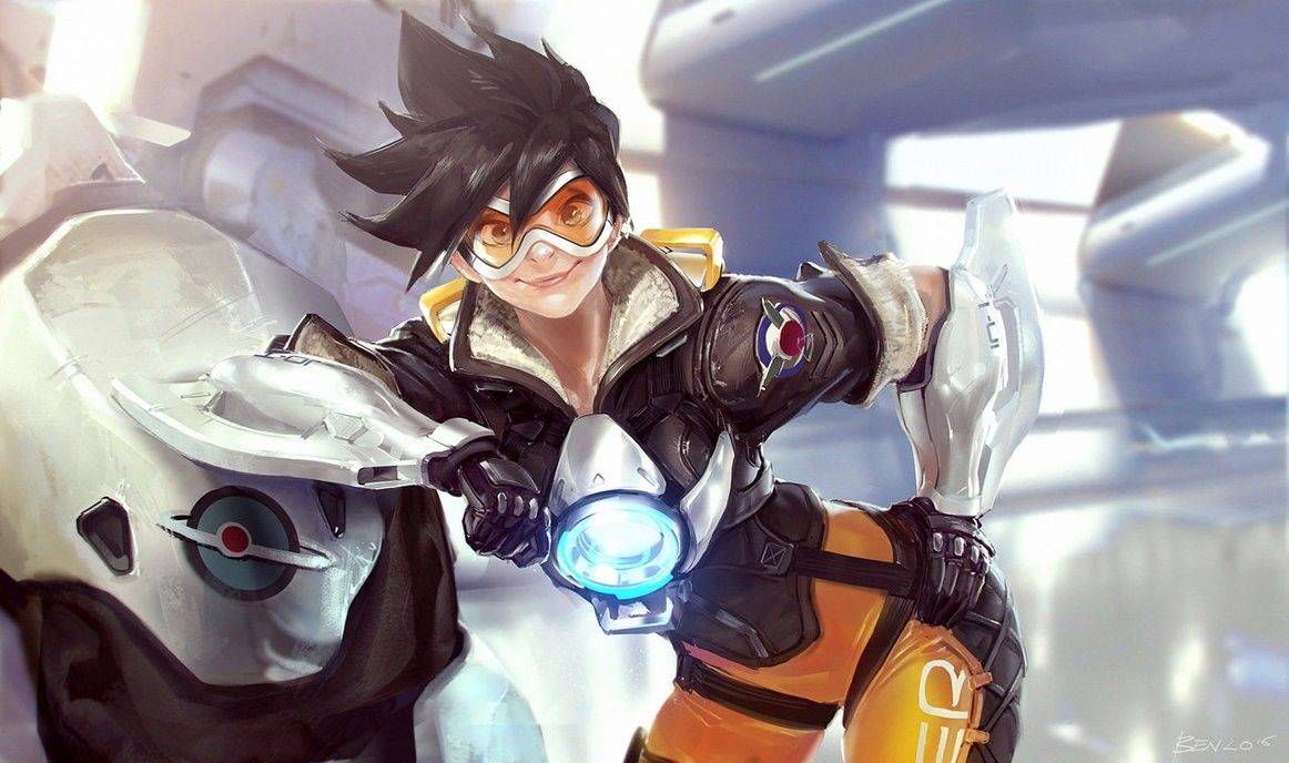 overwatch tracer fanart i have been wanting to do one of this ever