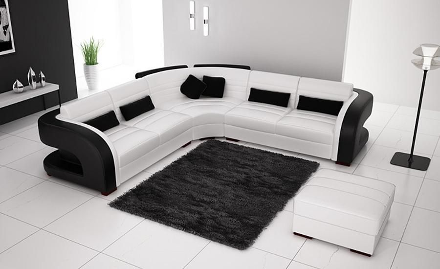 Sensational Classic Black White Genuine Leather L Shaped Corner Sofas Short Links Chair Design For Home Short Linksinfo