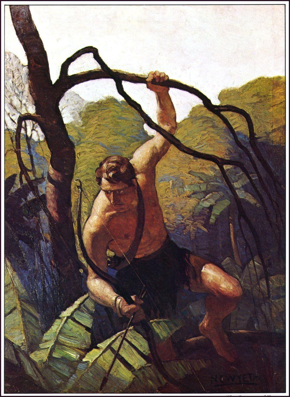 Tarzan by N.C. Wyeth.