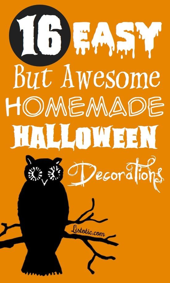 Nice 16+ Easy But Awesome Homemade Halloween Decorations (With Photo Tutorials)