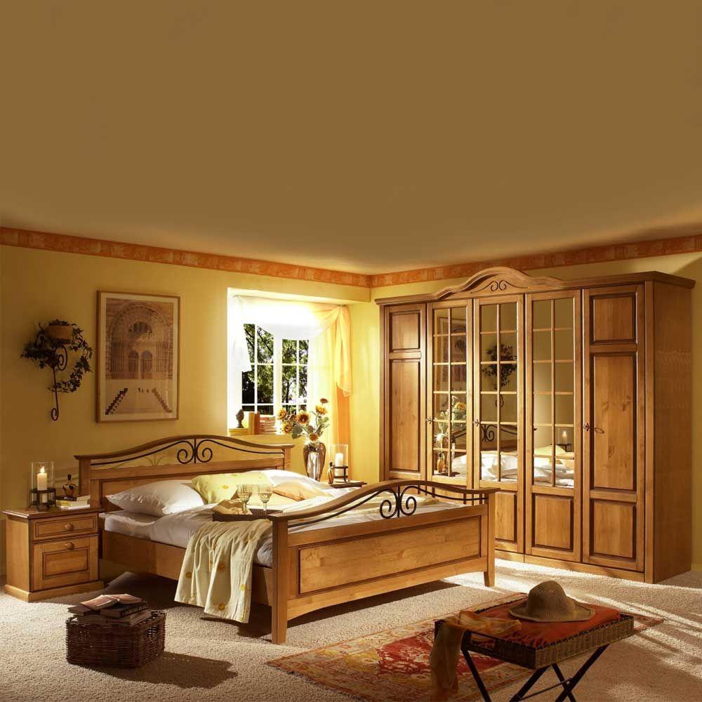 Schlafzimmermöbel Set In Honigfarben Landhaus Rustikal (4 Teilig) Jetzt  Bestellen Unter: Https