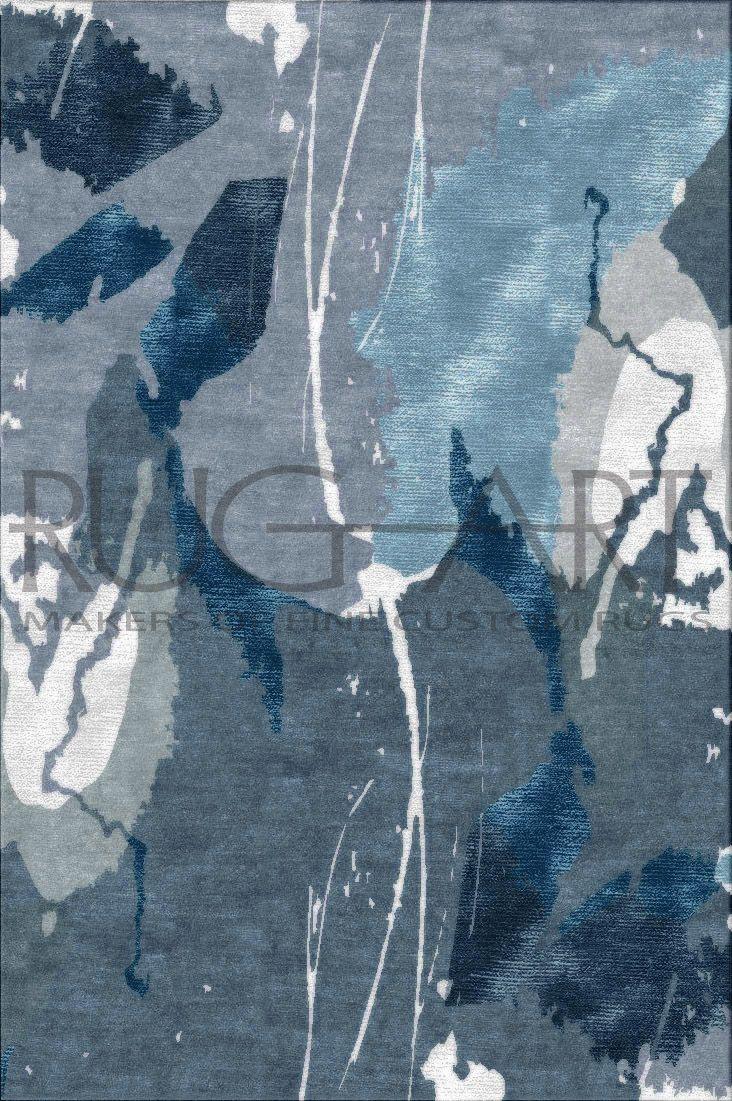 Dark Blue Light Blue Grey Cream Silk Softness Plush