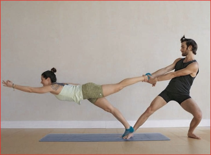 Easy Yoga Poses For 2 Person Couples Yoga Poses Partner Yoga Poses Yoga Poses For Two