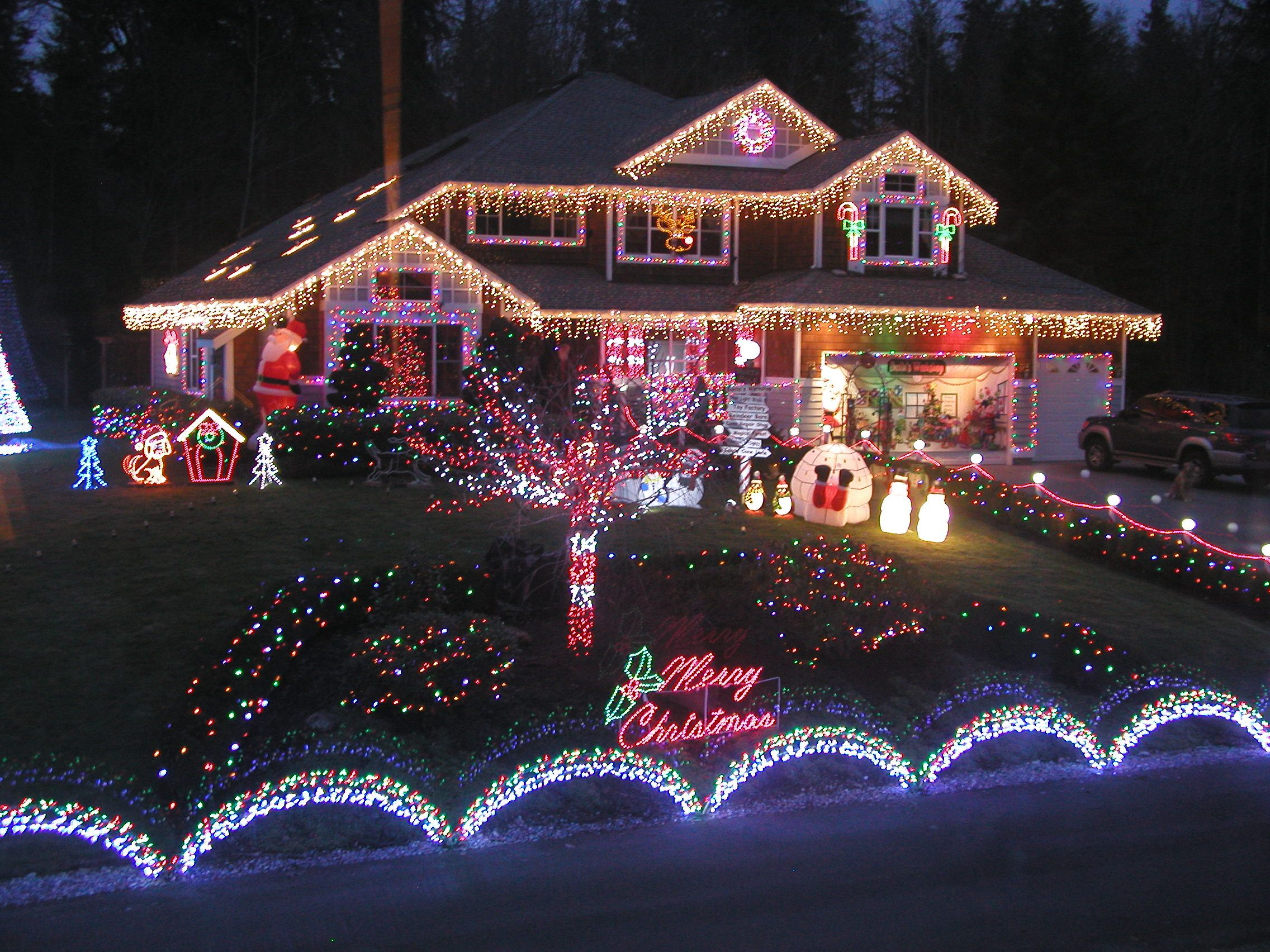 Outdoor Christmas Light Display Ideas Home Lighting Design Ideas Outdoor Christmas Light Displays Christmas House Lights Christmas Lights Outside
