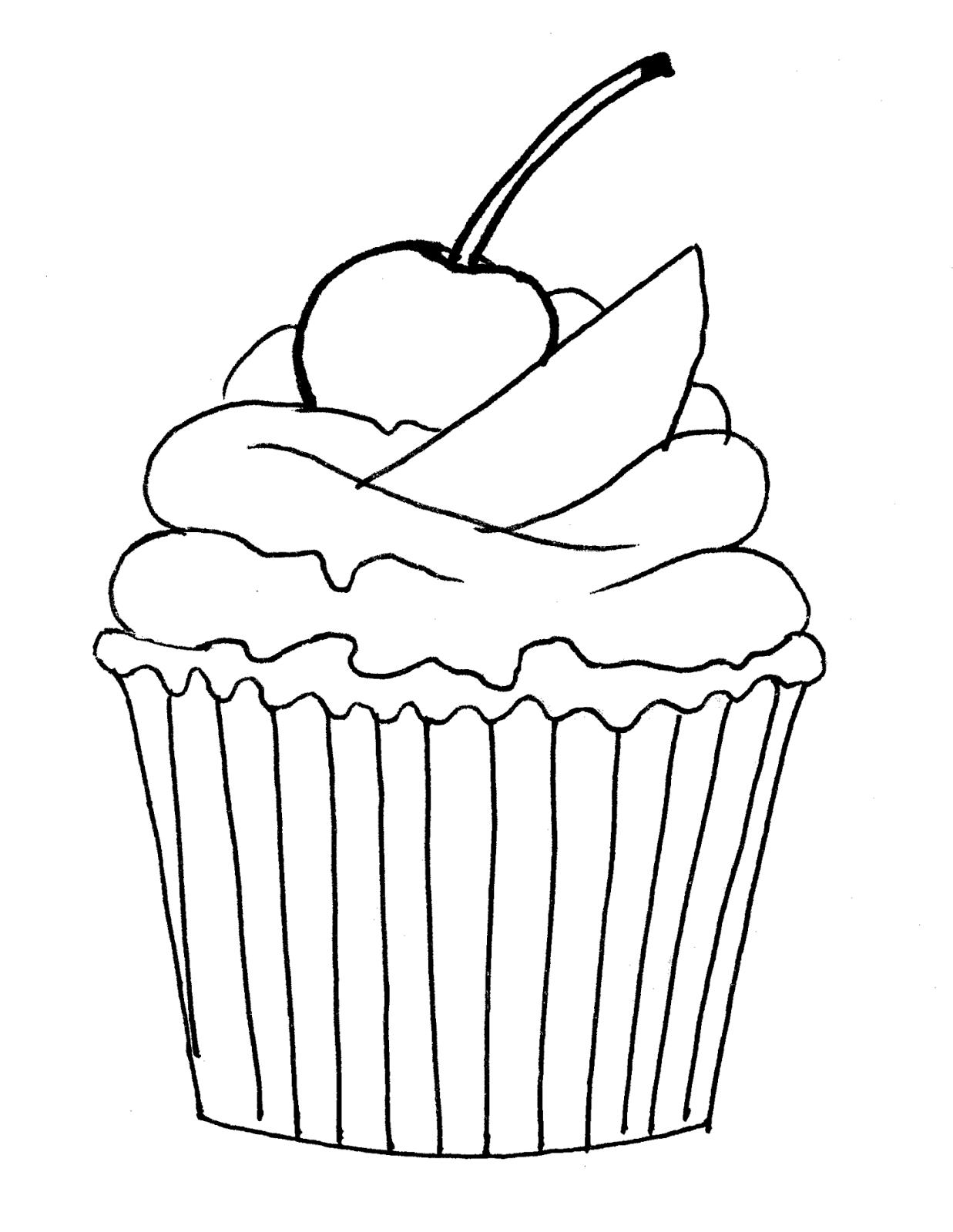 Mis Hojas de Papel: Sellos Digitales cupcake cherry muffin, de ...
