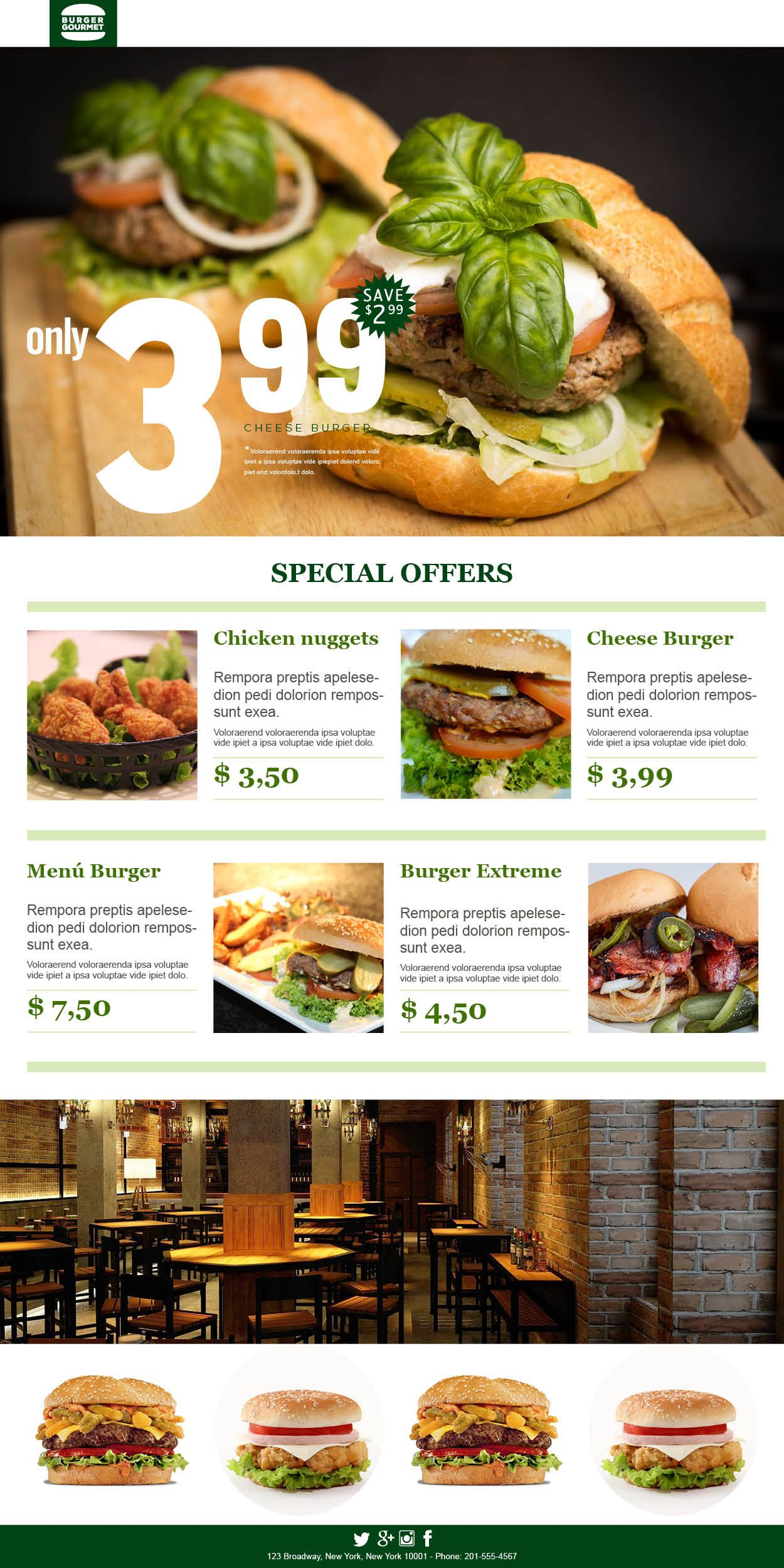 The Burger Campaign. Food service #Templates for successful ... on newsletter templates for middle school, newsletter templates for customer service, newsletter templates for 2nd grade,