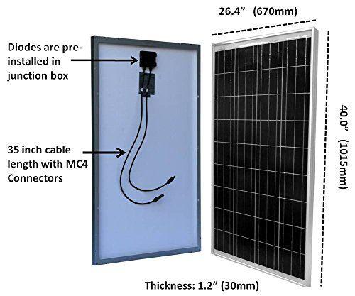 2pcs 100 Watt Polycrystalline Solar Panel Off Grid 12 Volt 12v Battery Charging For Rv Boat Solar Panels Best Solar Panels Solar Panel Battery